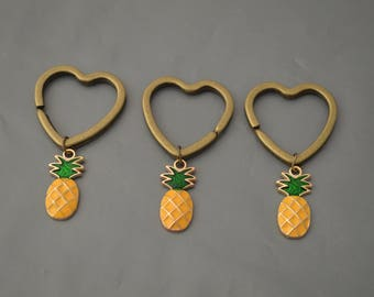 Pineapple Keychain,Pineapple Jewellery, Set Of 2, Of 3, Custom Keychain, Pineapple Pendant, Fruit Keychain, Fruit Charms, Best Friend Gift