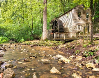 Norris Dam Grist Mill - Tennessee Art - Wall Art - State Park - Home Decor