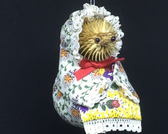 Vintage Mrs Tiggy Winkle Christmas Ornament