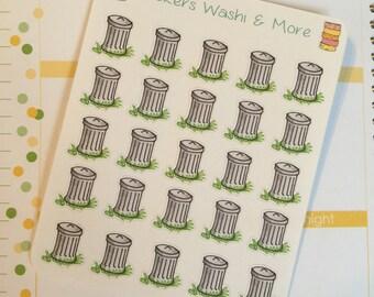 25 Small Trash can stickers for Erin Condren Life Planner Filofax Gillio #SWM00063