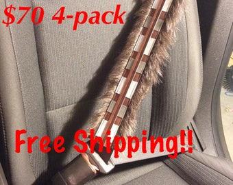 Free Shipping StarWars Inspired Chewbacca Seat Belt Covers