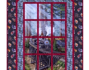 Quilt Pattern - Meet Me At The Station Window Quilt Pattern - Hard Copy Version -  FREE SHIPPING!!