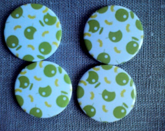 Button magnets Apple pattern