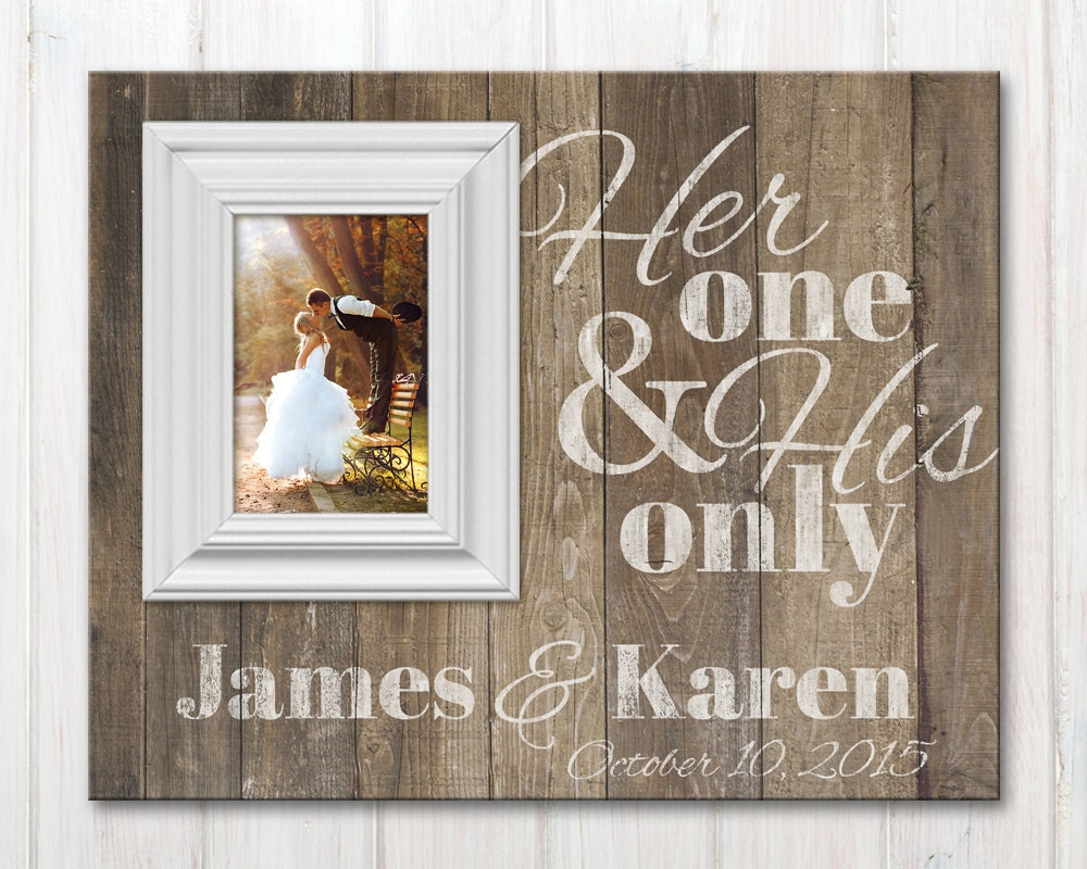 Personalized wedding picture frame with quote custom wood zoom jeuxipadfo Gallery
