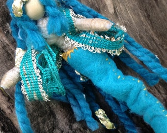 Magical Mermaid OOAK doll; Lourena of the Sapphire Sea