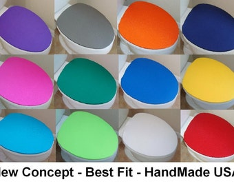 New Cover Lid for toilet seat fits on standard / elongated New Concept & Colors - HandMade by us in USA