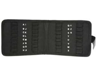 Metal Stamp Folder Black Canvas Beadsmith Alphabet Stamps Set Holder Storage Case