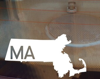 Massachusetts Car Decal, State Decal, Massachusetts Decal, Laptop Sticker, Laptop Decal, Car Sticker, Car Decal, Decal, MA, Window Sticker