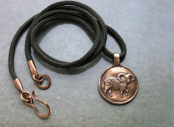 Aries mens necklace aries pendant aries astrology sign aloadofball Choice Image