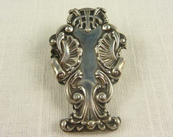 Antique Victorian Rococo Shell Flourish Desk Paper Clip