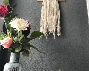 sandy yarn wall hanging