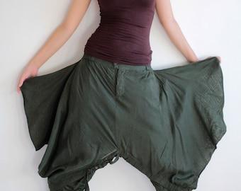 Hippie funky Skirt over pants...No.15 mix silk( GP-355)