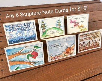 Any 6 Scripture Note Cards - Your Choice of 6 Cards