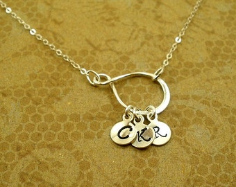 Sterling silver Initial Necklace, Personalized Initial Necklace, Personalized, Christmas Gifts, Memorable, for Mom, Mother-in-law, Grandma