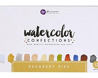 Prima Marketing Watercolor Confections - Decadent Pies