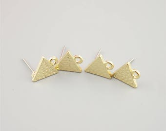 5 Pairs Gold Triangle Earring Stud,Earring Post ER002