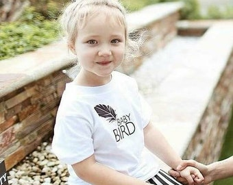 Baby Bird Tee, Baby Bird Tshirt, Baby Bird Tee, Baby Bird Shirt, Baby Gift, Baby Shower Gift