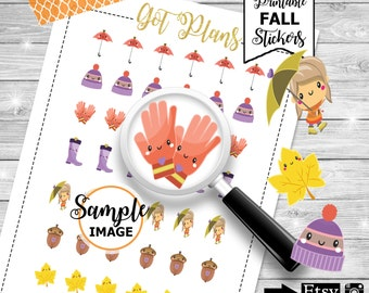 Printable Fall Planner Stickers for Erin Condren