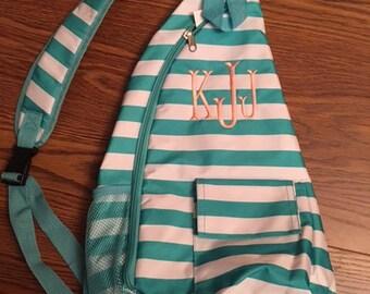 Monogrammed Sling Backpack