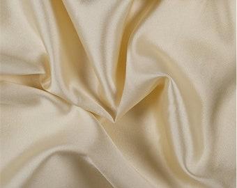 Yellow Silk/Wool Gab, Fabric By The Yard