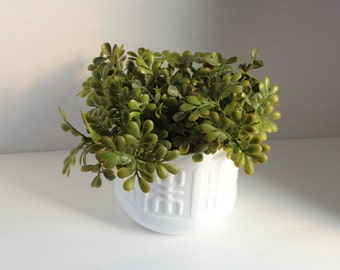 Greenery Planter,Milk Glass Flower Pot, Succulent Planter, Indoor Planter