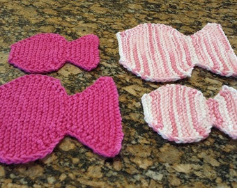 Hand knit fish washcloths for babies and toddler