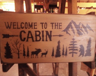 Welcome to the cabin with mountains, trees, wildlife