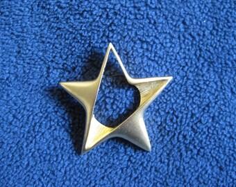 Gold Star Brooch
