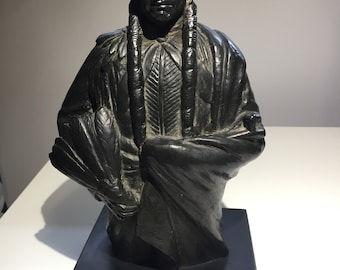A Joseph Boulton (1896 - 1981) Sculpture of a Native American Chief. Signed.