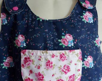 Blue roses and pink roses  dress 5 years old