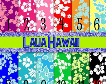Luau Hawaii, HTV, Pattern Vinyl, Adhesive Vinyl, Outdoor 651 Vinyl, Iron On Vinyl, Decals, Tropical Hibiscus, Flowers, Ocean, Summer