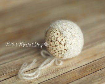 Mohair Shell Baby Bonnet Photography Prop