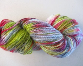 Peace & Love.  Handpainted Wool Yarn 2 Ply DK weight