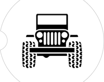 Jeep Car Coasters Cup Holder Coasters Car Accessories Gift under 10 Gift for Her Gift for Him