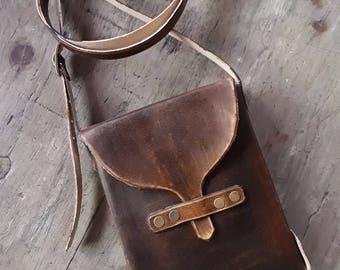 Mens leather Bag - Small Crossbody Leather Bag - Genuine Leather Small Bag - Unisex Leather Small Shoulder Bag