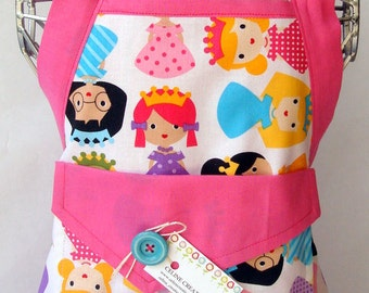 Kids Apron  Princess Friends