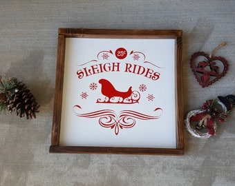 Christmas Sleigh Ride Sign