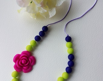 Chewelry Silicone bead Teething Necklace