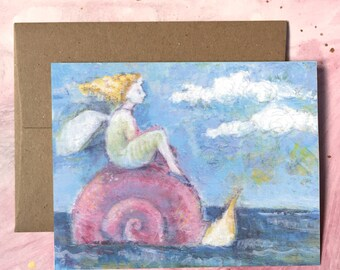 Snail Rider | Greeting Card