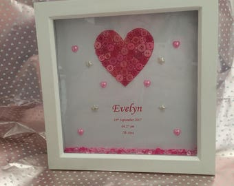 Beautiful baby girl frame, a perfect gift for a new baby
