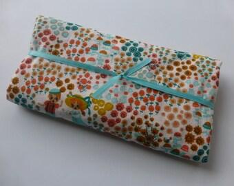 Security Blanket or Doll Blanket - Meadow Frolic Cream