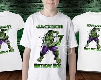 Hulk, Hulk Birthday, Hulk Birthday Shirt, Hulk Birthday Invitation, Hulk Shirt, Avenger Birthday Shirt, Personalized birthday shirt