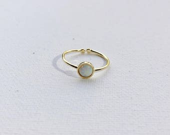 Gold Opal Dainty Ring