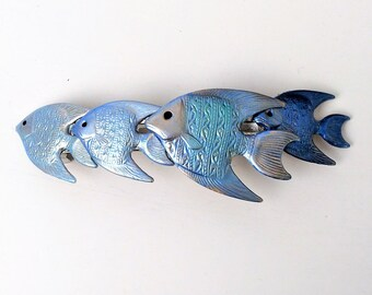 Fish Hair Barrette, Blue Fish