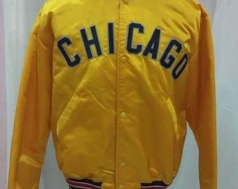 Very rare!!!! Vintage Varsity Jacket Chicago big logo /Tommy hilfiger/fila/kappa/is/adidas/Stussy/guess/ellese/versace/gucci/ysl
