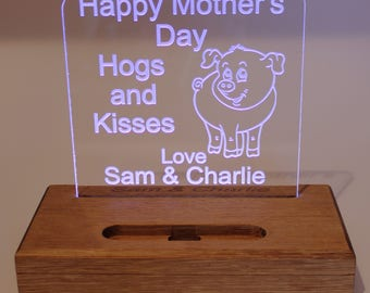 Phone stand, personalised, light up phone stand