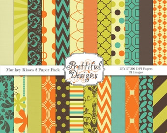 Commercial Use Digital Paper Pack, Scrapbook Paper, Personal and Commercial Use