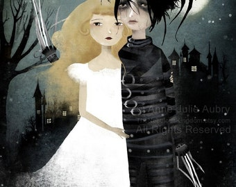 Edward Scissorhands 64/100 - Deluxe Edition Print - Whimsical Art