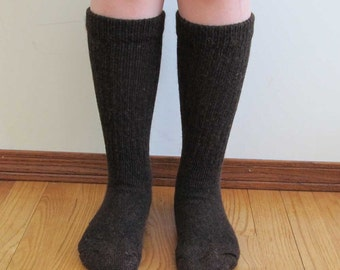 Alpaca wool socks - Everyday Style - Super cozy warm and soft socks Size SMALL dark brown