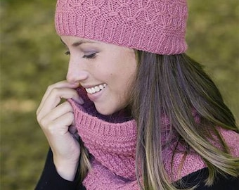 Textured hat and neck warmer